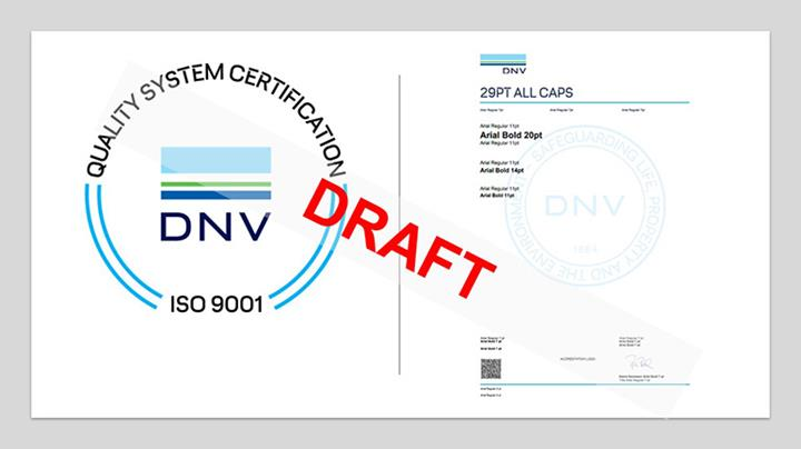 New certificate and cert mark draft